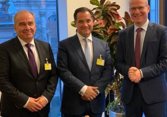 Με τον Υπουργό κ Άδωνι Γεωργιάδη & τον κ. Ralph Brinkhaus Γραμματέα της Κοινοβουλευτικής Ομάδας της Χριστιανοδημοκρατικής Ένωσης της Γερμανίας