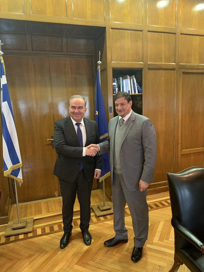 Συνάντηση Υφυπουργού Ανάπτυξης και Επενδύσεων, κ. Νίκου Παπαθανάση με τον Πρέσβη του Κουβέιτ στην Αθήνα κ. Saud Faisal Saud Al-Daweesh