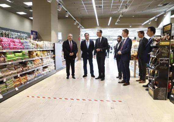 Ο Υπουργός Ανάπτυξης & Επενδύσεων κ. Α. Γεωργιάδης και ο Υφυπουργός κ. Ν. Παπαθανάσης πραγματοποίησαν αυτοψία σε σουπερμάρκετ