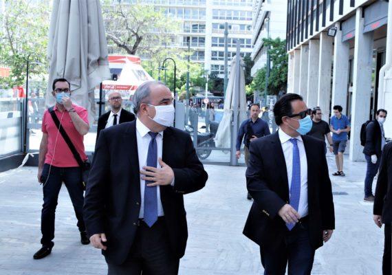 Αυτοψία του Υπουργού Ανάπτυξης & Επενδύσεων, κ. Άδωνι Γεωργιάδη και του Υφυπουργού, κ. Νίκου Παπαθανάση σε εμπορικά καταστήματα στο κέντρο της Αθήνας