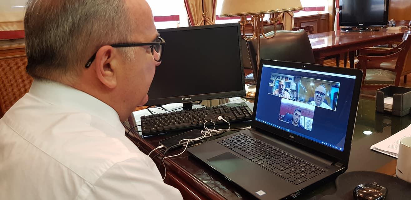 Τηλεδιάσκεψη του ΥφΥΠΑΝΕ κ. Νίκου Παπαθανάση με την Ελληνική Ένωση Εταιριών Ενοικίασης Εξοπλισμού Εκδηλώσεων