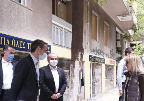 Επίσκεψη του Πρωθυπουργού Κυριάκου Μητσοτάκη και του Υφυπουργού Ανάπτυξης & Επενδύσεων Νίκου Παπαθανάση στο Παγκράτι