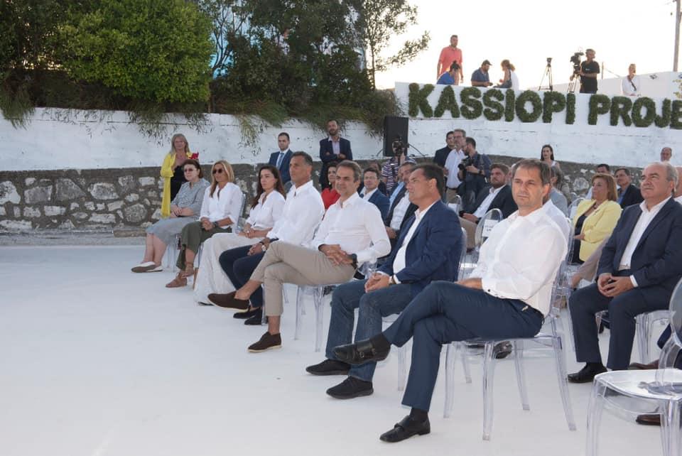 Επίσκεψη στην Κέρκυρα και στο σημείο της επένδυσης στην Κασσιόπη