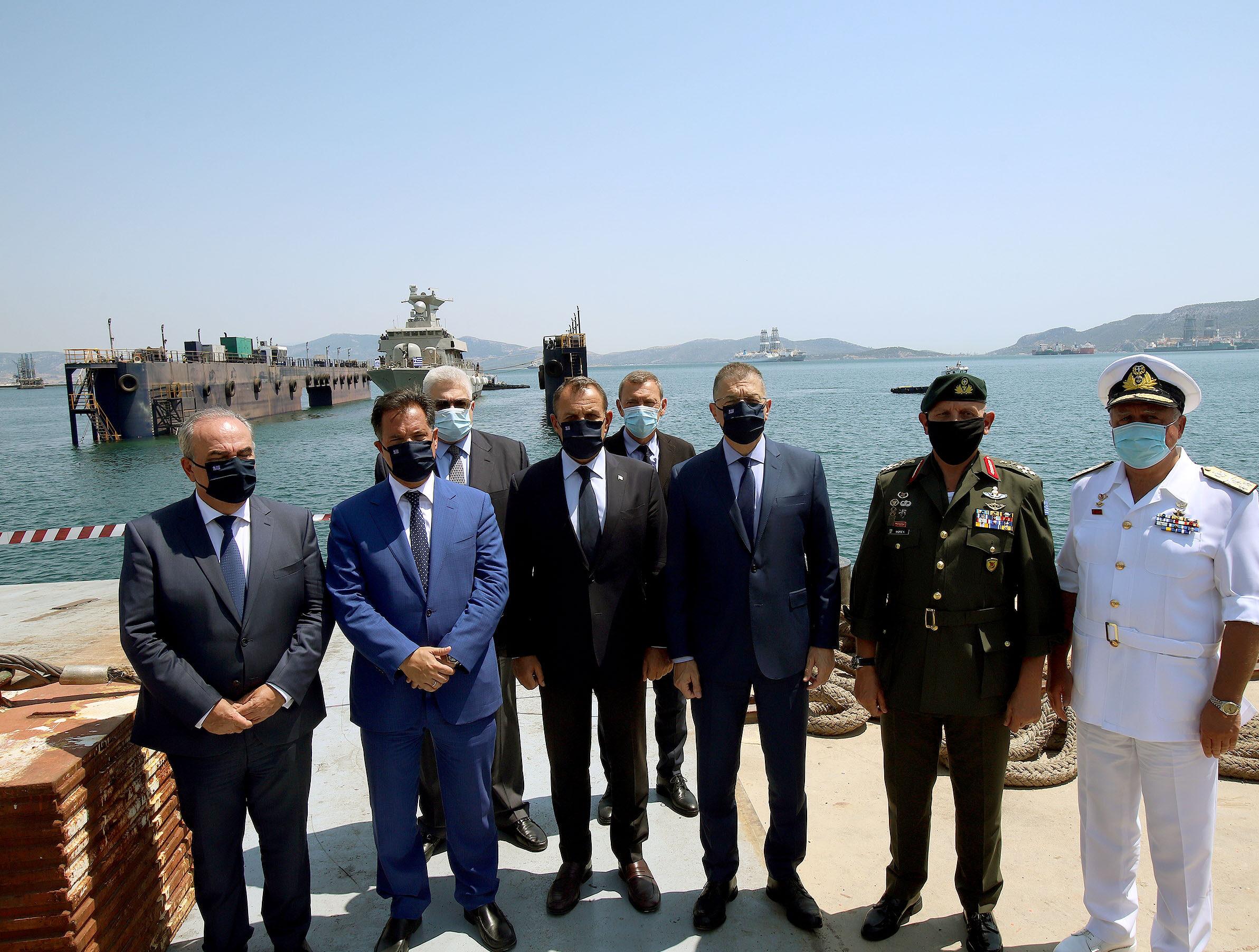 Τελετή καθέλκυσης της ΤΠΚ «7» του Πολεμικού Ναυτικού στις εγκαταστάσεις των «Ναυπηγείων Ελευσίνος»