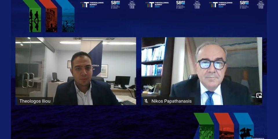 Ο Αναπληρωτής Υπουργός Ανάπτυξης και Επενδύσεων  κ. Νίκος Παπαθανάσης, μίλησε διαδικτυακά στο «Thessaloniki Summit 2020»