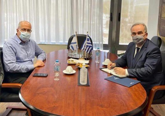 Συνάντηση του Αν. Υπουργού Ανάπτυξης και Επενδύσεων κ. Νίκου Παπαθανάση με τον Πρέσβη του Ισραήλ στην Ελλάδα κ. Yossi Amrani