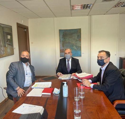 Συνάντηση του Αναπληρωτή Υπουργού Ανάπτυξης και Επενδύσεων κ. Νίκου Παπαθανάση με τον βουλευτή Λάρισας  κ. Χρήστο Κέλλα