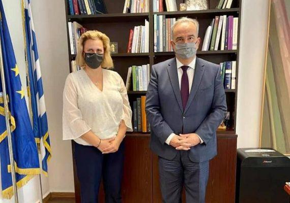 Συνάντηση του Αναπληρωτή Υπουργού Ανάπτυξης και Επενδύσεων κ. Νίκου Παπαθανάση με την βουλευτή Κορινθίας κα. Μαριλένα Σούκουλη-Βιλιάλη