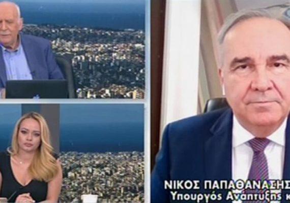 Ο Νίκος Παπαθανάσης, Αναπληρωτής Υπουργός Ανάπτυξης και Επενδύσεων στην εκπομπή ΚΑΛΗΜΕΡΑ ΕΛΛΑΔΑ