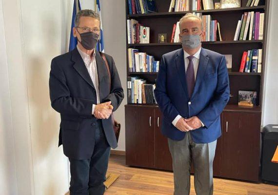 Ο Νίκος Παπαθανάσης, Αναπληρωτής Υπουργός Ανάπτυξης και Επενδύσεων, συναντήθηκε με τον Δήμαρχο Κοζάνης  Λάζαρο Μαλούτα