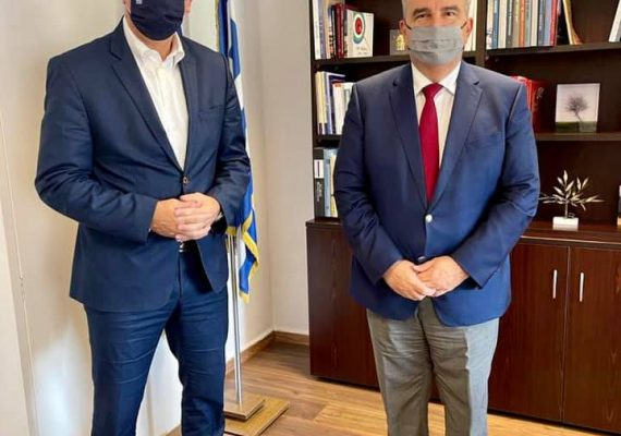 Ο Νίκος Παπαθανάσης, Αναπληρωτής Υπουργός Ανάπτυξης και Επενδύσεων, συναντήθηκε με τον Σταύρο Καλαφάτη, Υφυπουργό Εσωτερικών (Μακεδονίας και Θράκης)