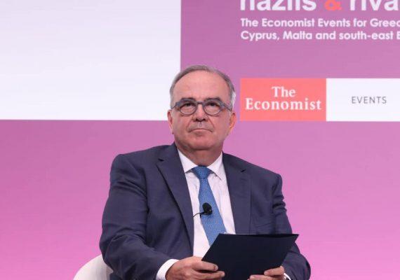 Ο Νίκος Παπαθανάσης, Αναπληρωτής Υπουργός Ανάπτυξης & Επενδύσεων, στο 25th Roundtable with the Government of Greece του Economist