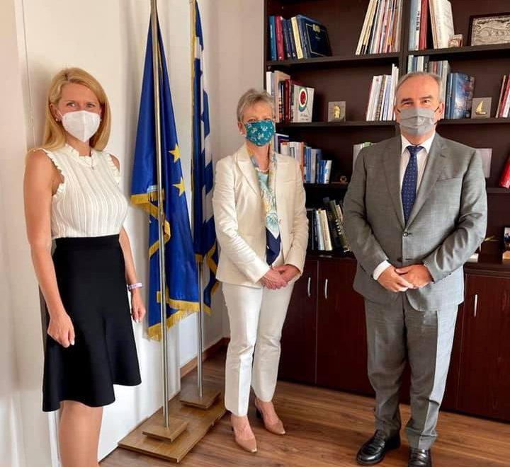 Ο Νίκος Παπαθανάσης, Αναπληρωτής Υπουργός Ανάπτυξης και Επενδύσεων, είχε συνάντηση εργασίας με την  Ευρωπαϊκή Τράπεζα Ανασυγκρότησης και Ανάπτυξης